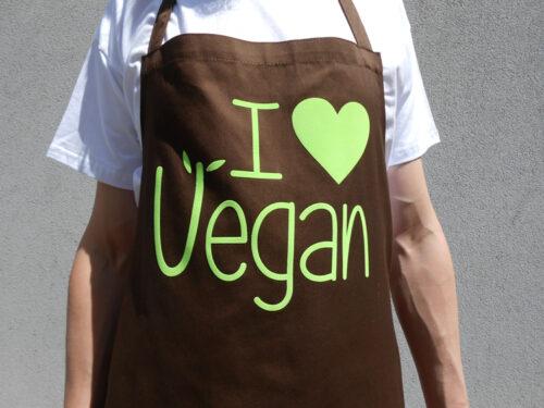 I love Vegan Grill Schürze