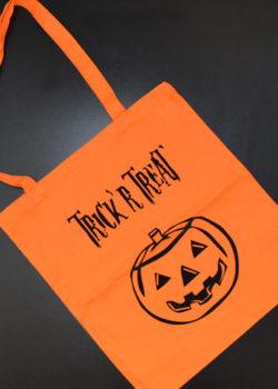 trick'n'treat ,Tragetasche, süßes oder saures