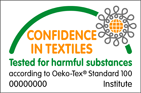 confidence in textiles; tested for harmful substances