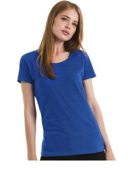blue Crewneck Damen Shirt