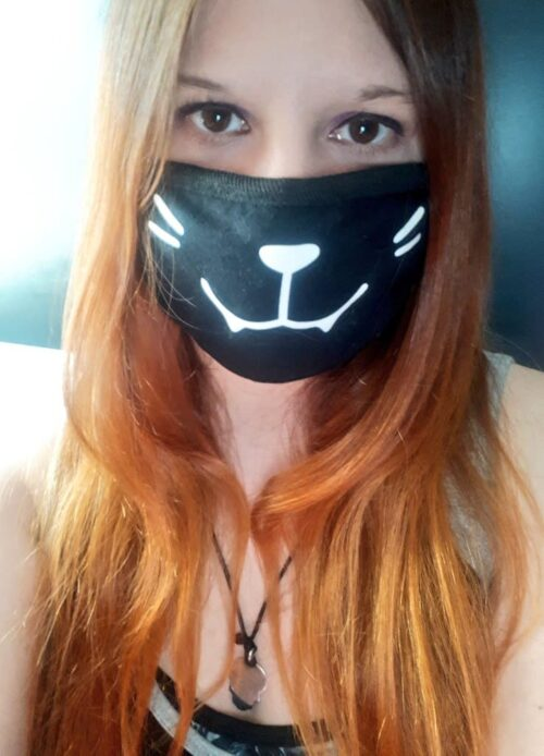 katze maske corona